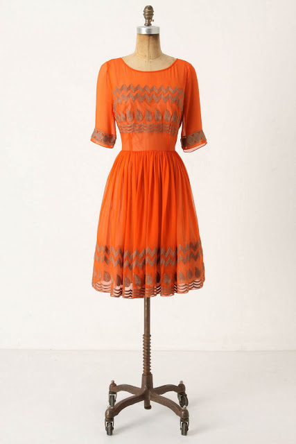 Anthropologie Tangerine Flicker Dress DIY | Life is Beautiful