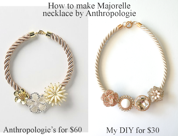 Anthropologie Majorelle necklace DIY