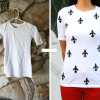 DIY: stained shirt to a printed shirt