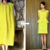 DIY: thrift dress to origami peplum dress