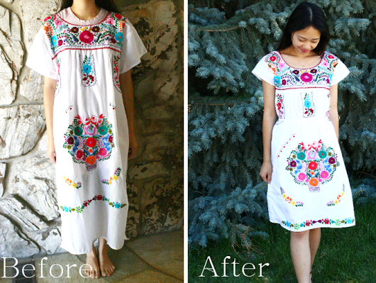 refashion a dress that is too big