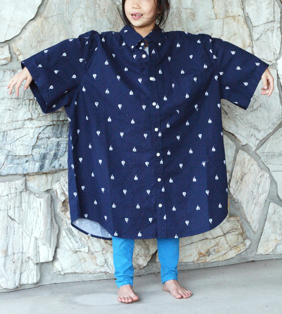 859497e029a DIY  Men s XL shirt into a little girl s dress