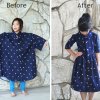 DIY: Men's XL shirt into a little girl's dress