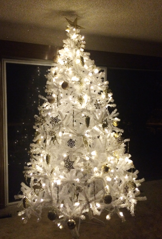 White Christmas Tree Life Is Beautiful