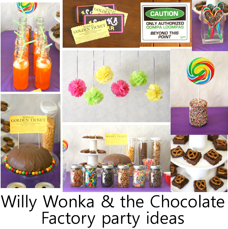 Willy Wonka The Chocolate Factory Party Holiday Recipes