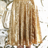 DIY: Gold sequin circle skirt; midi and maxi