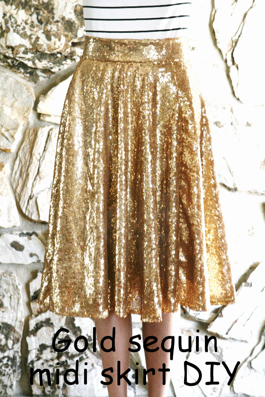 f61ac77ff6 DIY: Gold sequin circle skirt; midi and maxi | Life is Beautiful