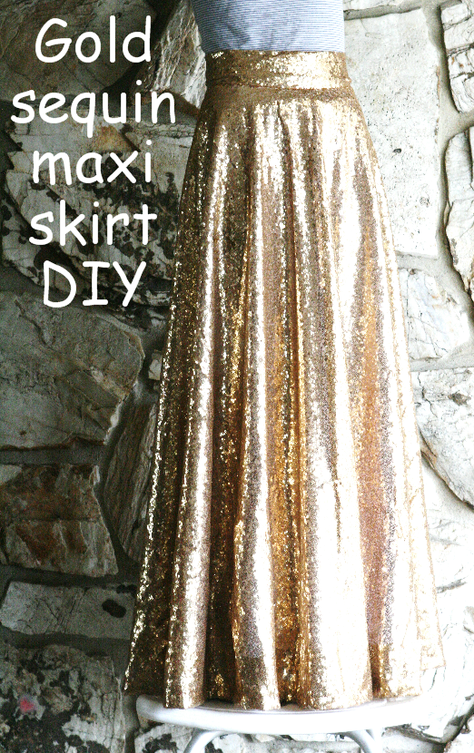 Diy Gold Sequin Circle Skirt Midi And Maxi Life Is Beautiful