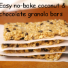 super easy no bake granola bars