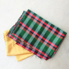 DIY: Plaid silk dress with pockets for girls