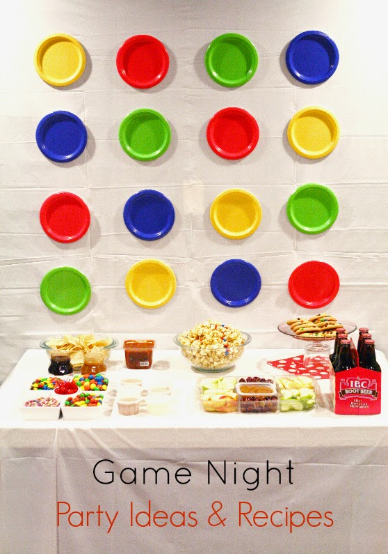 Game night party ideas & recipes