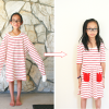 DIY: XXL shirt into a little girls dress