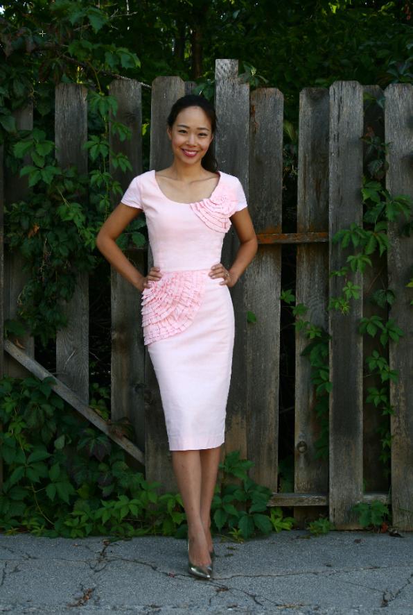 Oversized thrift dress suit refashion