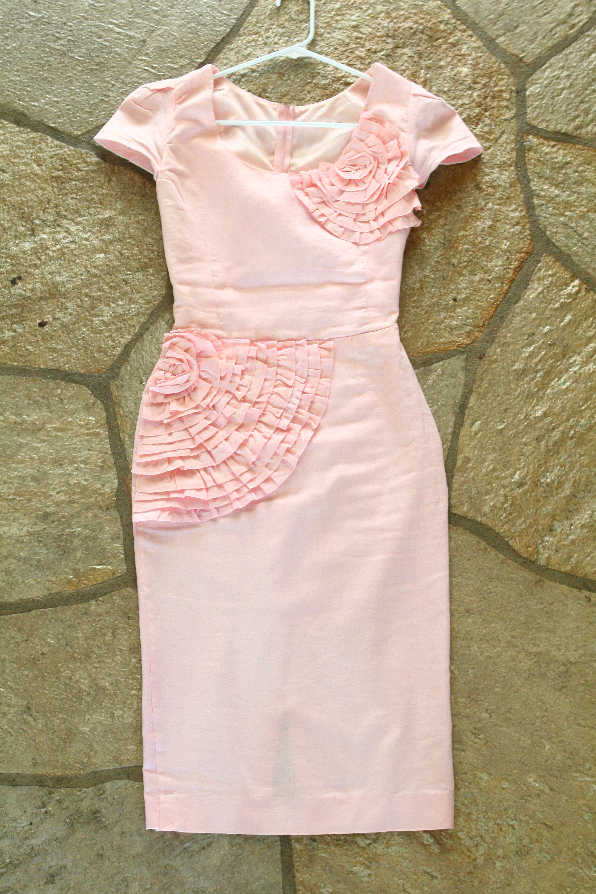 Oversized thrift dress suit refashion DIY