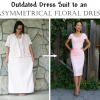 Refashion Runway DIY: Oversized Dress-suit to an Asymmetrical Dress