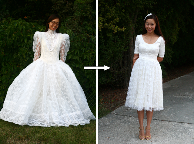 Wedding dress refashion DIY