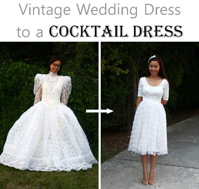 Vintage wedding dress refashion