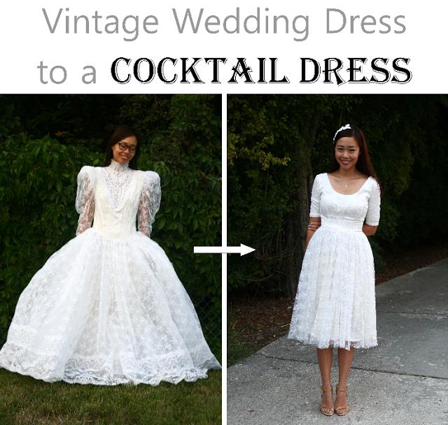 Vintage wedding dress refashion