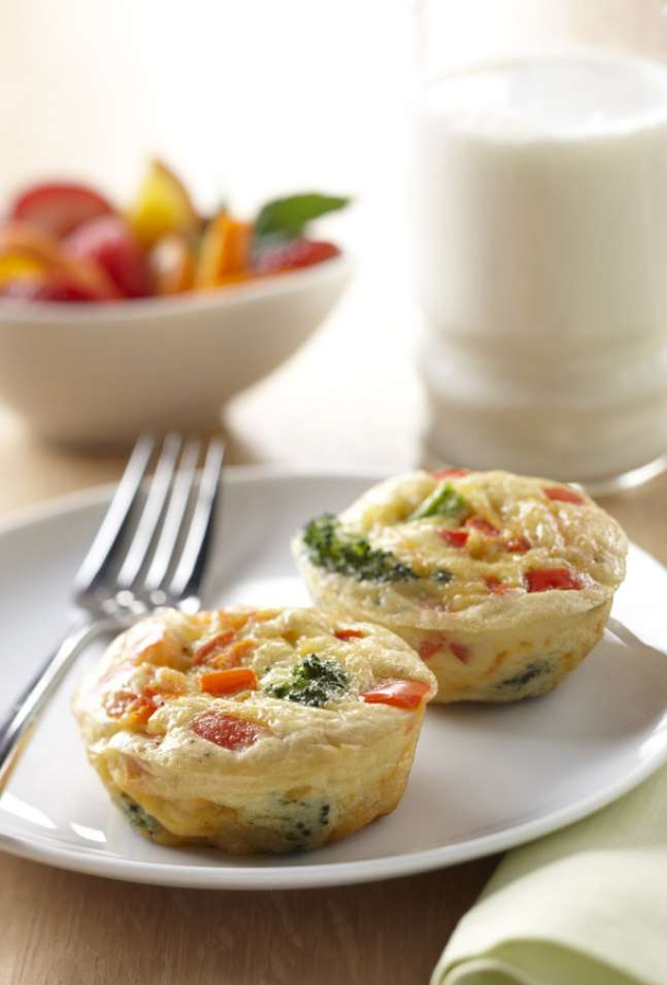 Broccoli and Cheese Frittatas