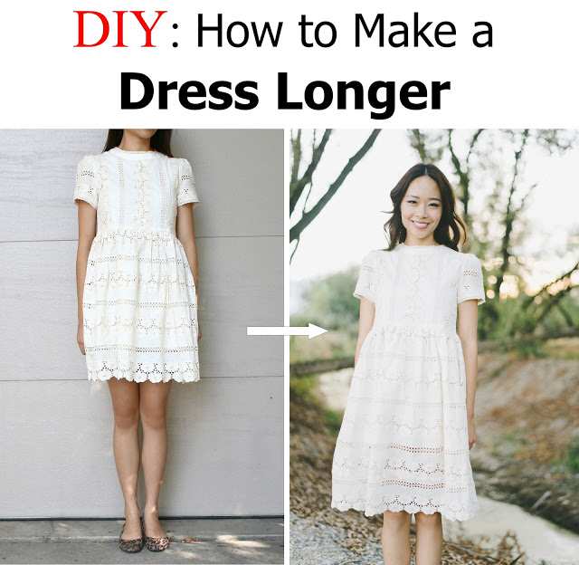 Make a short dress longer