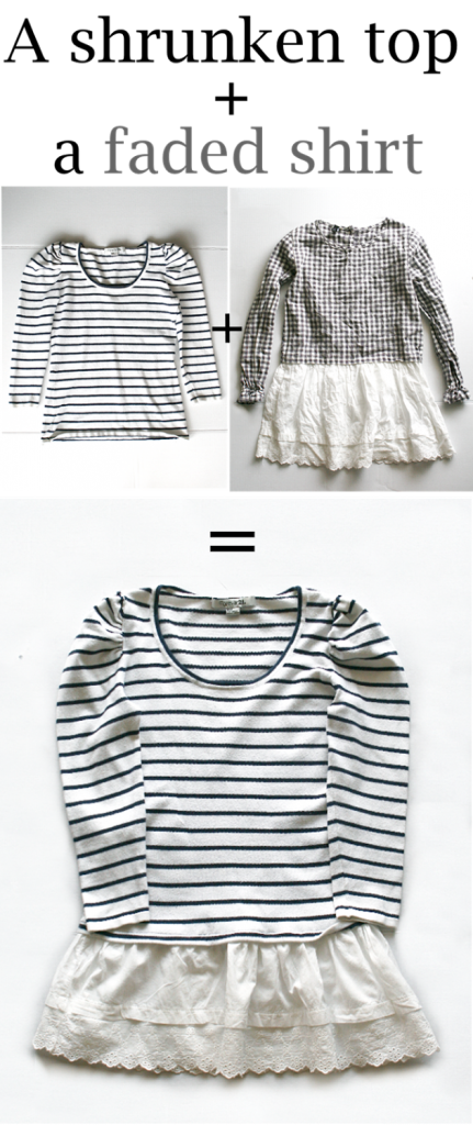 What to do with a shirt that shrunk or faded