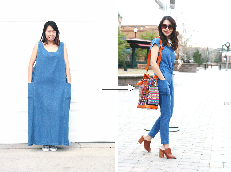 Dress to a Jumpsuit Refashion