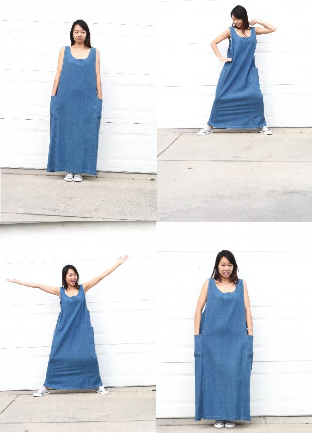 Maxi dress to a jumpsuit DIY