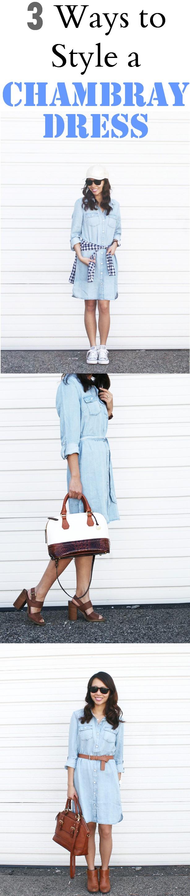 3 ways to style a chambray dress