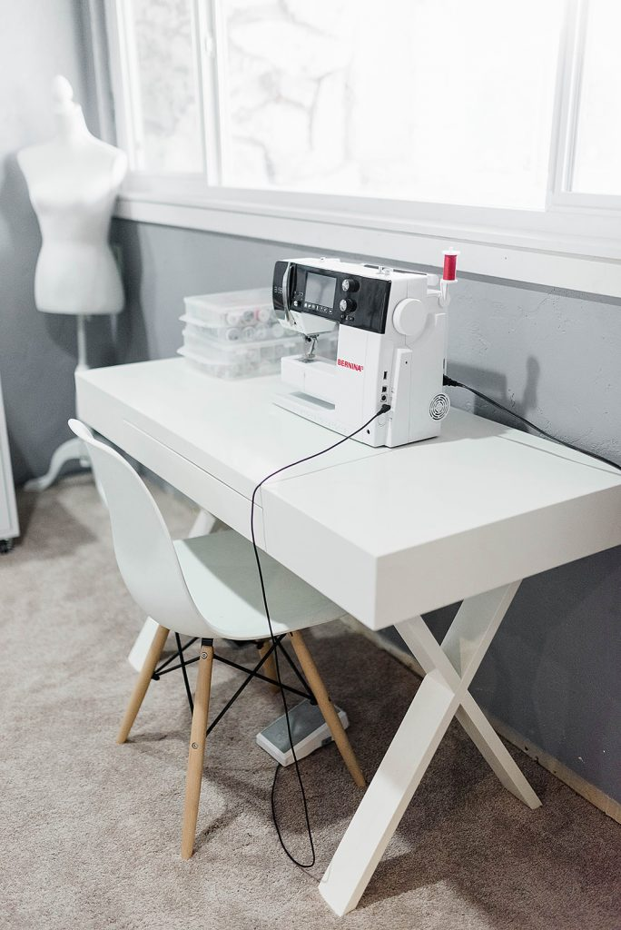 bernina sewing machine on a sewing machine table