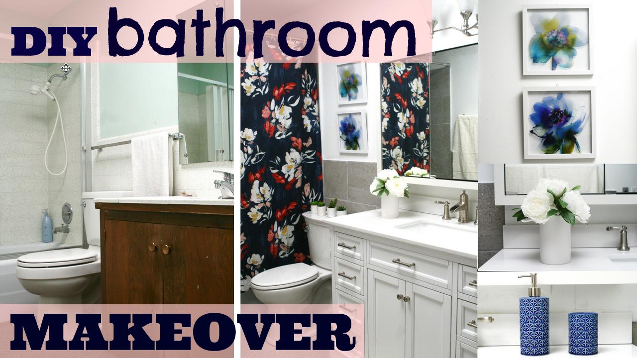 Diy Ugly Bathroom To A Beautiful New Bathroom Renovation