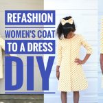 DIY: REFASHION WOMEN'S COAT TO A GIRL'S DRESS