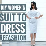 DIY WOMEN'S SUIT TO DRESS REFASHION || How to Refashion Clothes