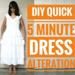 DIY: QUICK 5-MIN. DRESS ALTERATION | How to Alter Your Own Clothes