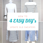 4 WAYS TO UPCYCLE OLD SWEATERS/TOPS | SUPER EASY REFASHION DIY