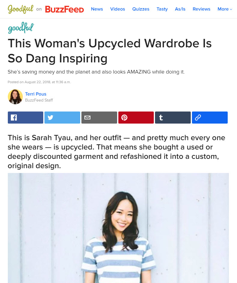 This Woman's Upcycled Wardrobe Is So Dang Inspiring