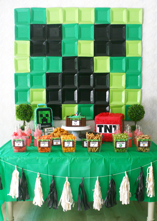 minecraft birthday party decor ideas
