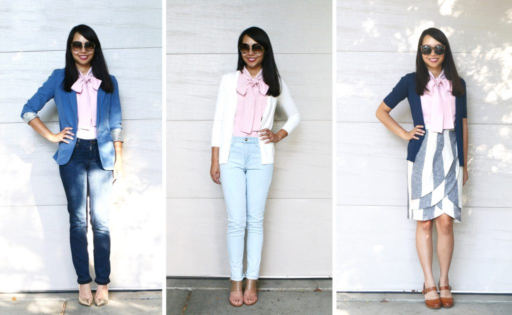 3 ways to style a blouse