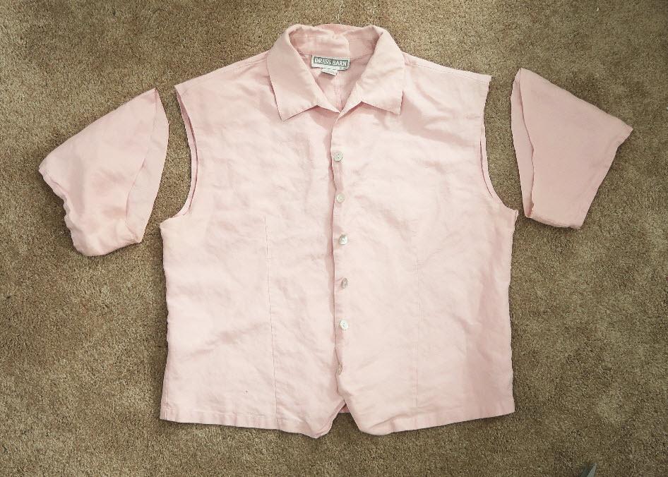 bow-tie blouse DIY