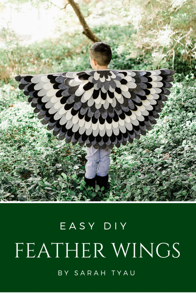 Easy felt feather wings DIY