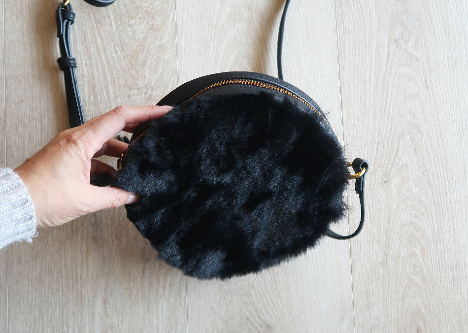 DIY: Upcycle an old bag into a faux fur bag