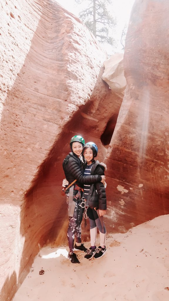 rappeling at zion
