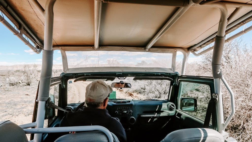 jeep ride at zion national park