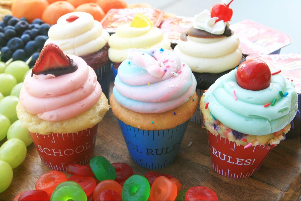 Back to school cupcake